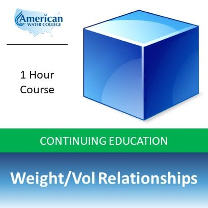 Weight/Vol Relationships