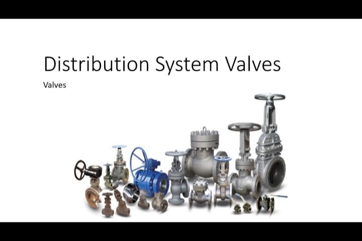 Water Distribution | Valve types