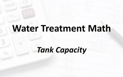 Tank Capacity | Texas Class C Groundwater Math