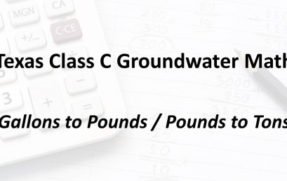 Gallons to Pounds / Pounds to Tons Conversion | Texas Class C Groundwater Math