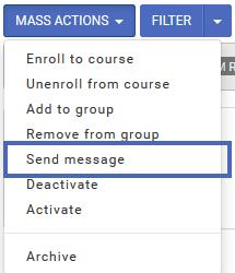 Mass Action - Send Message