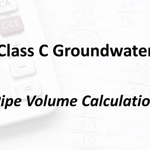 Pipe Volume Calculation | Texas Class C Groundwater Math