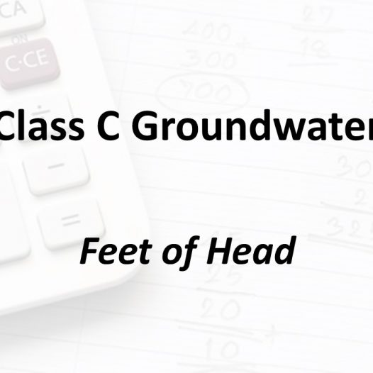 Feet of Head | Texas Class C Groundwater Math