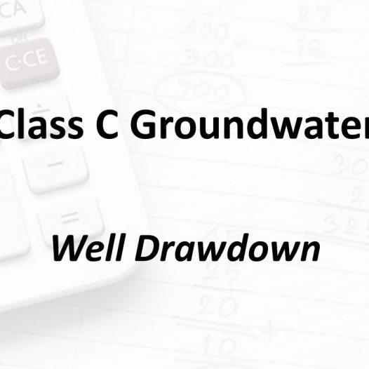 Well Drawdown | Texas Class C Groundwater Math