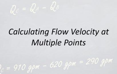 Applied Hydraulics | Flow Velocity at Multiple Points