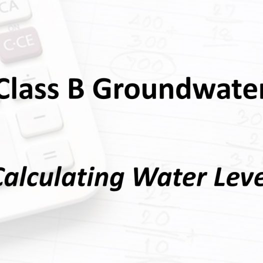 Calculating Water Level| Texas Class B Groundwater Math
