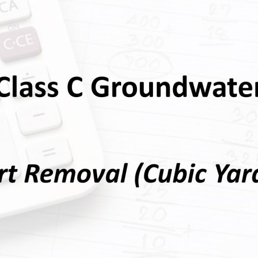 Dirt Removal (Cubic Yards) | Texas Class C Groundwater Math