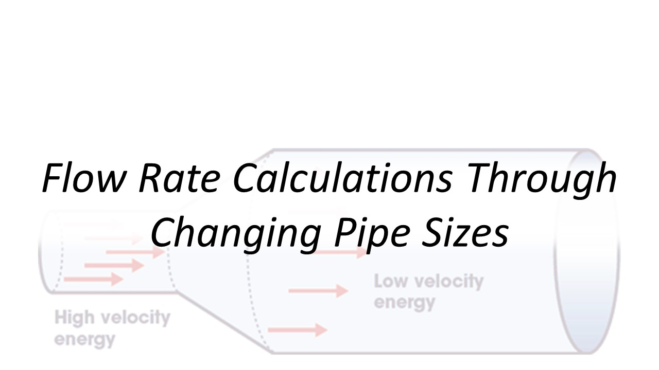 Applied Hydraulics | Flow Rate Calculations Through Changing Pipe Sizes