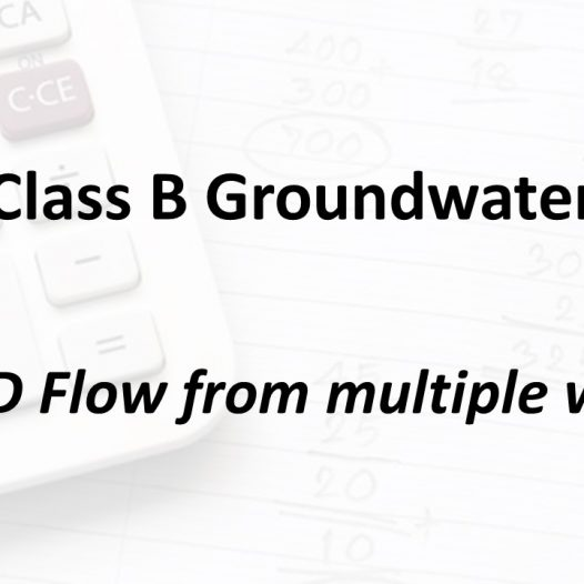 MGD Flow from multiple wells | Texas Class B Groundwater Math